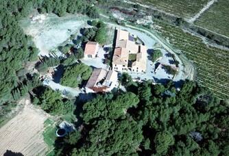 Vue aérienne du Château Le Bouis