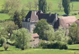 Vue aérienne du Château de Chamilly