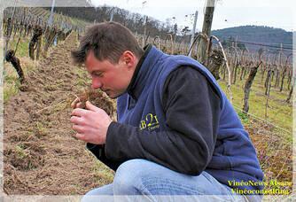 Eric Kamm dans les vignes du Domaine Kamm