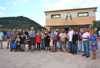 Visiteurs du Château Matheron